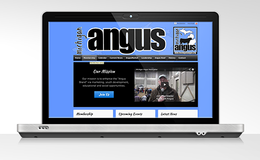 Michigan Angus Association Website Example