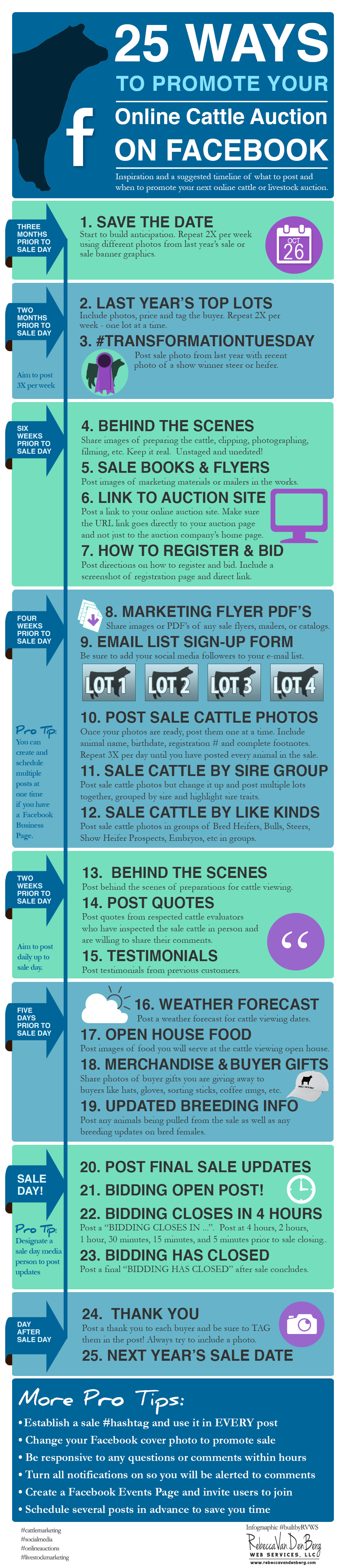 25 Ways to Promote Your Online Cattle Auction on Facebook