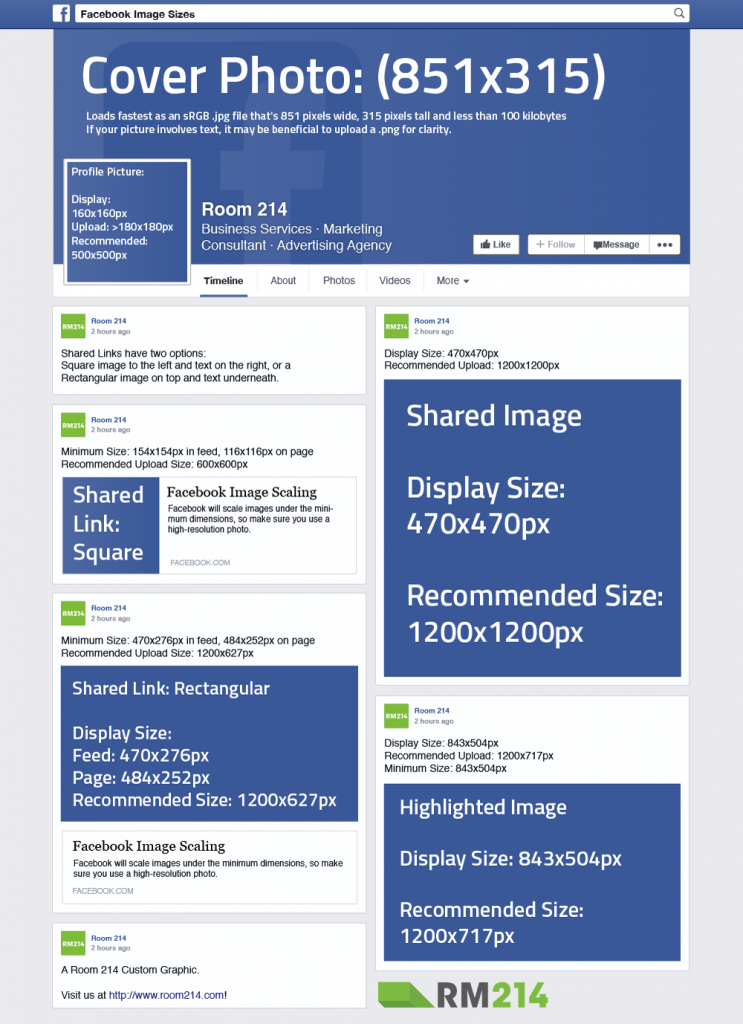 Facebook Image Sizes Reference Guide - VanDenBerg Web ...