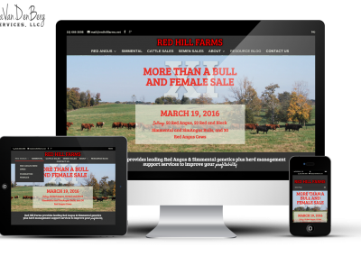 Red Hill Farms Website Redesign