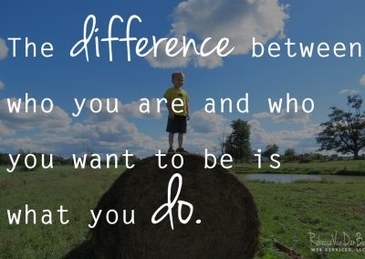 the-differece-between-who-you-are