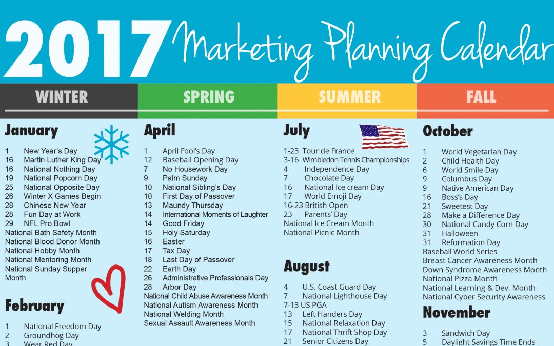 Ultimate 2017 Marketing Planning Calendar - Rebecca Vandenberg Web