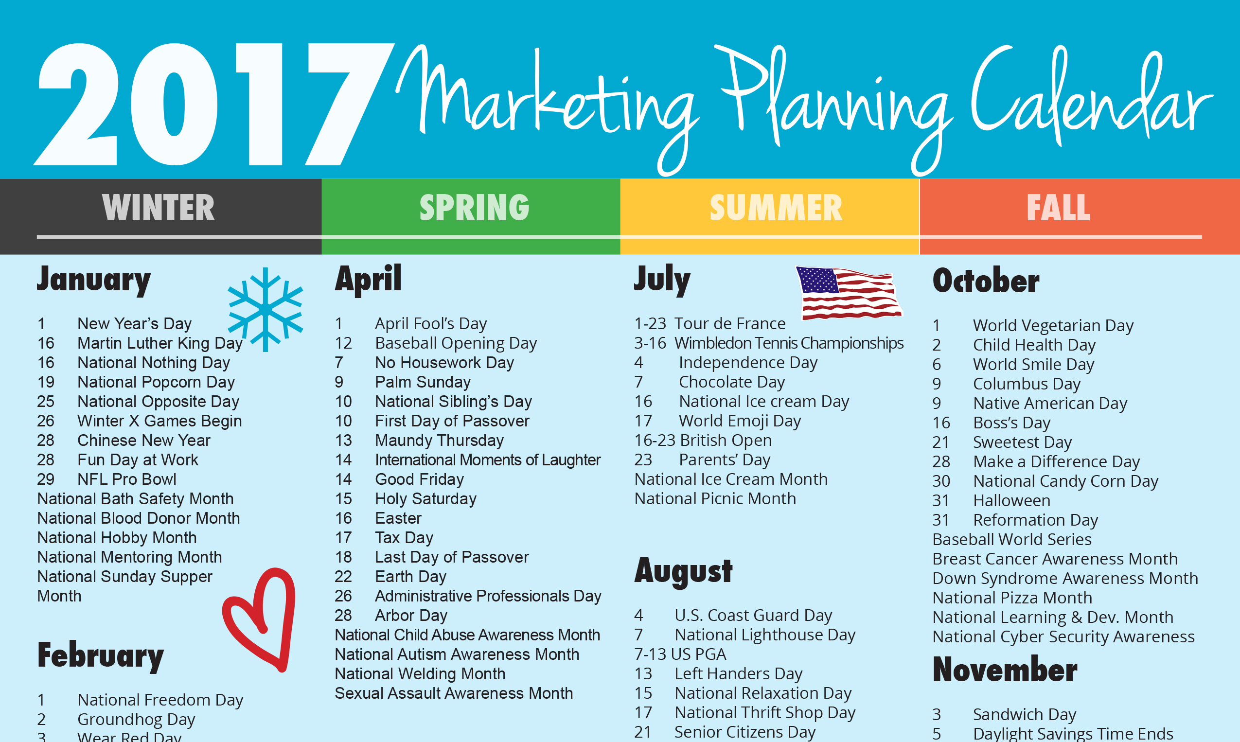 ultimate 2017 marketing planning calendar rebecca vandenberg web services. Black Bedroom Furniture Sets. Home Design Ideas
