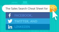 the sales search cheat sheet for facebook, twitter, linkedin