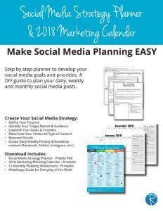 2018 Social Media Strategy Planner