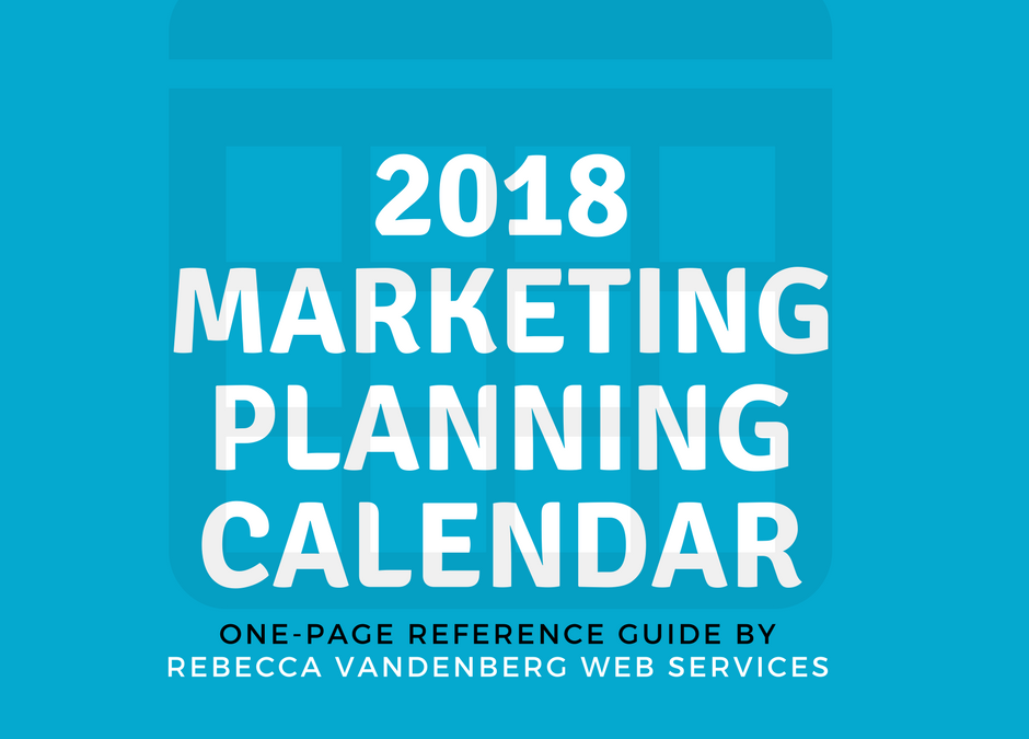 2018 Marketing Planning Calendar