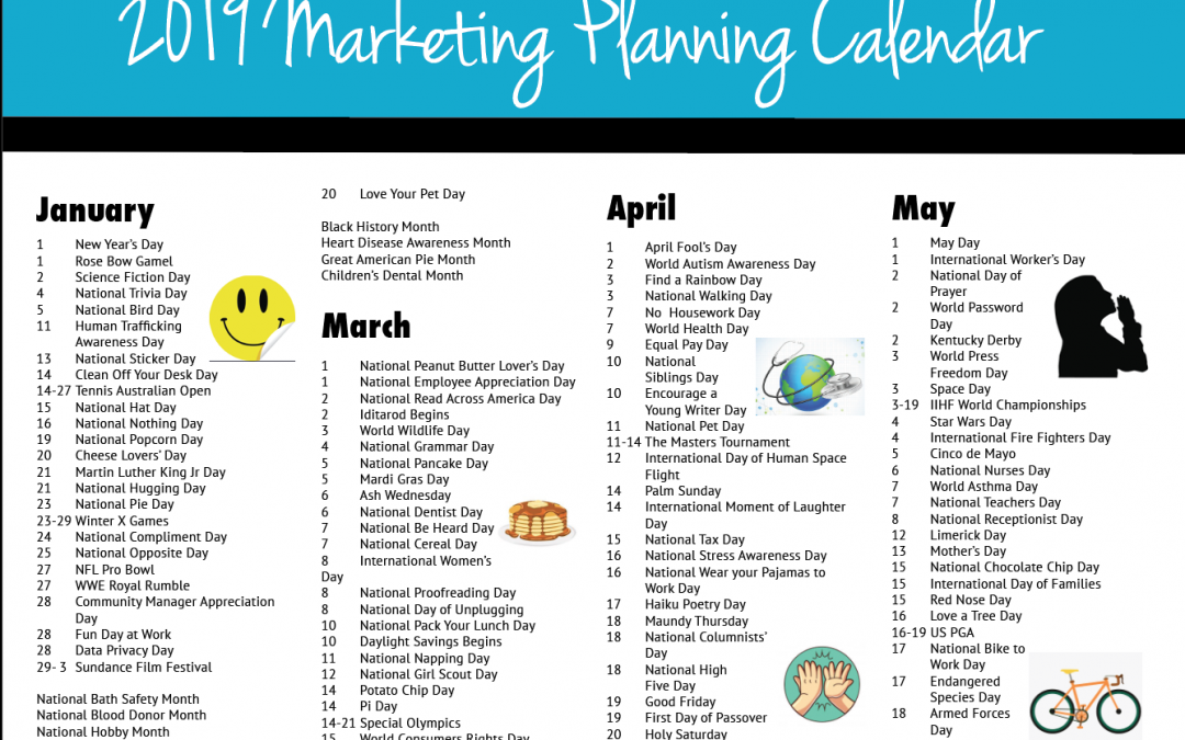 2019 Marketing Planning Calendar