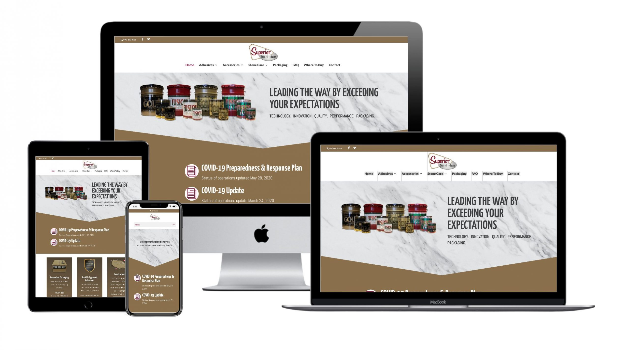 Superior Stone Products Website Design by VanDenBerg Web + Creative