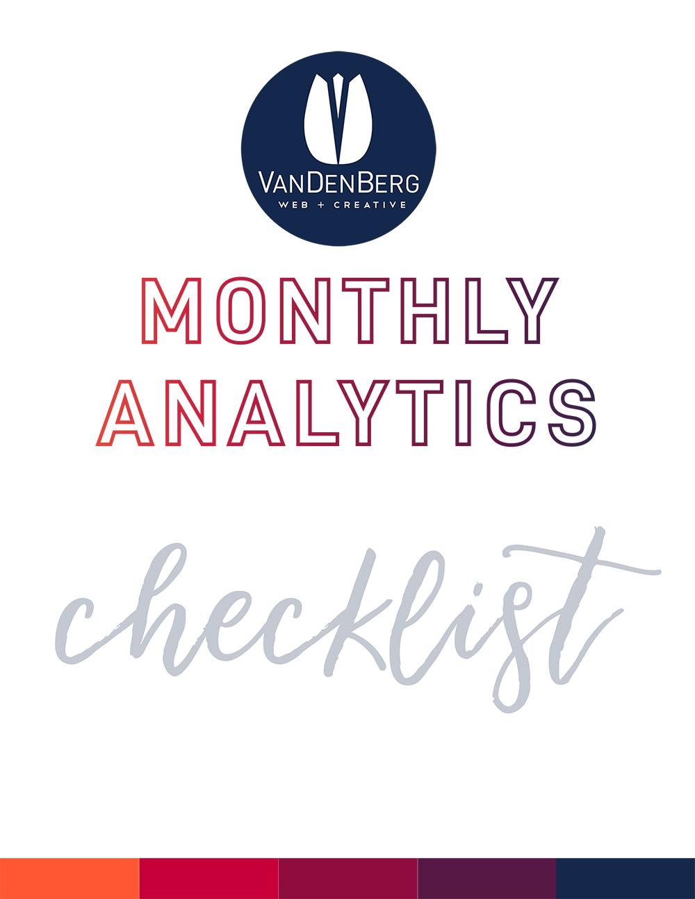 Monthly Analytics Checklist