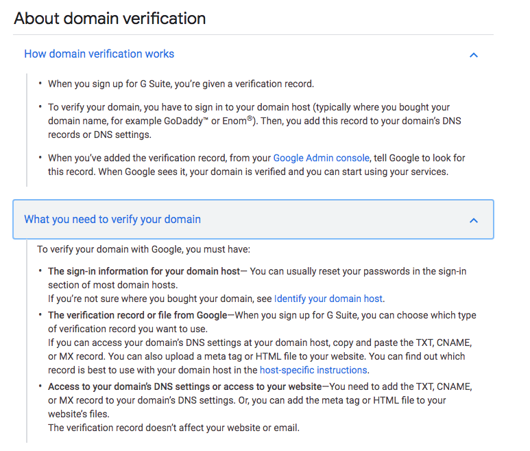 g-suite domain verification